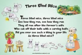 The Blind Mice Nursery Rhyme Three Blind Mice Nursery Rhymes Outside