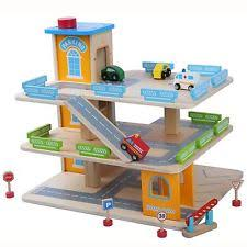 Plan Toys Parking Garage Sale by Wooden Toy Garage Ebay