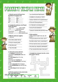 present simple worksheet kindergarten level learn english