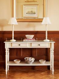 adding narrow console tables for perfect interior room decor