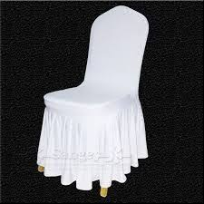 Metal Chair Covers Spring Rose Tm White Polyester Standard Folding Wedding Chair