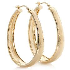 oval hoop earrings bellezza aulia bronze hammered oval hoop earrings 7256506 hsn