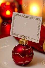 elegant christmas place setting place with ornament card holder
