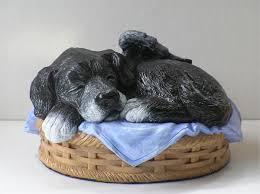 dog cremation sleeping angel dog cremation urn custom painted