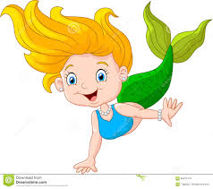cute cartoon mermaid stock illustration image 63835162