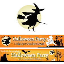 halloween banners printed pvc banners
