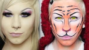 tiger transformation make up tutorial halloween 2013 youtube