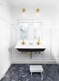 this kids u0027 bathroom remodel is filled with small space solutions