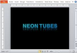 shiny beveled text powerpoint template
