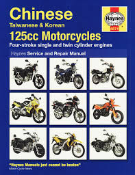 chinese 125 motorcycles service and repair manual service