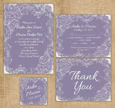 lavender wedding invitations items similar to printable wedding invitation suite diy rustic