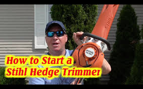 how to start a stihl hs 56c gas hedge trimmer easy2start