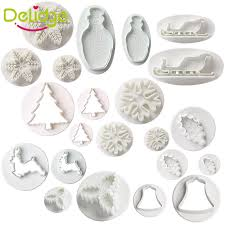 Christmas Cake Decorations Sugarcraft by Christmas Cookie Cutter Plunger Fondant Cake Decorating Sugarcraft