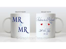 wedding gift mugs mr mr personalised wedding gift mug personalised with names and