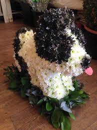 Dog Flower Arrangement Funeral Flowers Available In Market Weighton