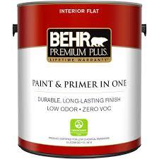 home depot interior paints behr premium plus 1 gal white flat zero voc interior paint and