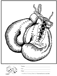boxing gloves coloring pages getcoloringpages com