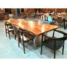 image of concrete dining table diy heavy wood dining room sets