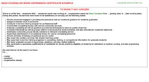 Meat Cutter Job Description Resume by Full Time Counselor Work Experience Letters