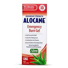 amazon com alocane maximum strength emergency room burn gel 2 5