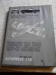 triumph tr4 and tr4a workshop manual abebooks
