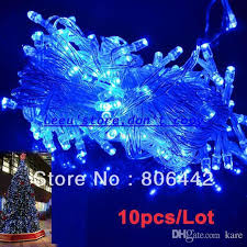 cheap 10m 100 led blue lights decorative festival