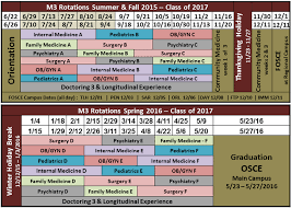 medical education academic calendar for 2015 2016 fsu college