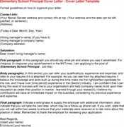 sample elementary principal cover letter