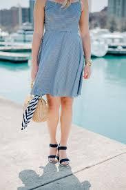 blue gingham dress at belmont harbor in chicago u2014 bows u0026 sequins