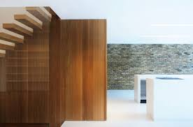 modern wood contemporary wood stairs modern home in by bureau de