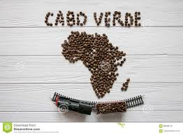 Cabo Verde Map Map Of The Cabo Verde Made Of Roasted Coffee Beans Laying On White