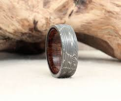 damascus steel wedding band wrought damascus steel wood rings dudeiwantthat