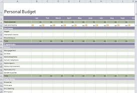 Personal Budget Spreadsheet Free Personal Budget Template Vnzgames