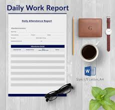daily work report template daily report template word selimtd