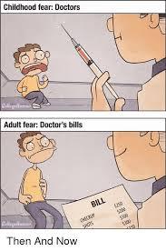 College Humor Meme - childhood fear doctors elmo adult fear doctor s bills collegehumor