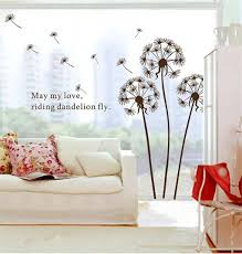 Mural Stickers For Walls Amazon Com 1 X Dandelion Flowers Tree Butterflies Removable Vinyl