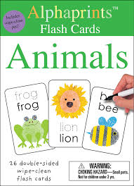 alphaprints wipe clean flash cards animals roger priddy macmillan
