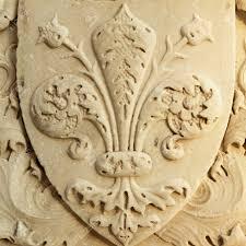 fleur de lis of florence close up of the marble renaissance