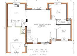 plan de cuisine gratuit pdf cuisine cuisine plan de maison contemporaine de plain pied plan