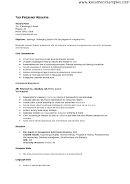 tax preparer resume objective enrolled agent cover letter tax