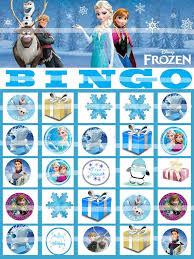 8 images frozen free printable bingo cards frozen