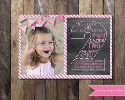 printable chalkboard second birthday invitation template 2nd