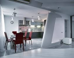 modern kitchen with dining room theyre typically lit with small chandelier bulbs so the amount of