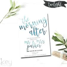 wedding brunch invitation post wedding breakfast invitations the morning after post wedding