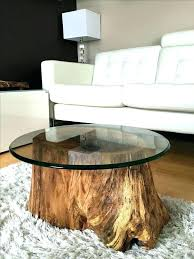tree trunk bedside table stump end table appalachian solid wood 2pc tree stump end table