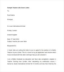 Resume Templates For Teaching Jobs Job Cover Letter Template Surprising Microsoft Cover Letter