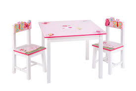 Table And Chair Sets Guidecraft Butterfly Buddies Kids 3 Piece Table And Chairs Set