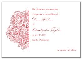 henna invitation the paisley wedding invitation design