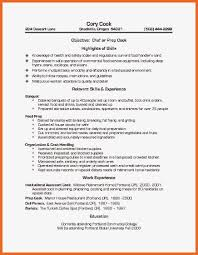 chef resume exles prep cook resume matchboard co baristas and cafe workers resume