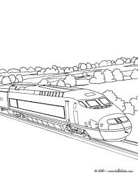 High Speed Rail Crossing A Very Modern And High Bridge Coloring Rail Color Page
